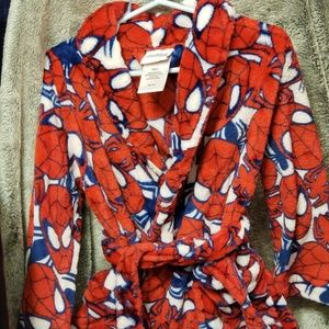 Boys 4t Very Soft Spider-Man Robe Red/Blue/White